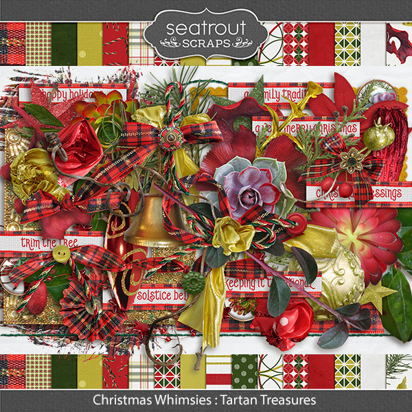 Christmas Whimsies - Tartan Kit Digital Art - Digital Scrapbooking Kits