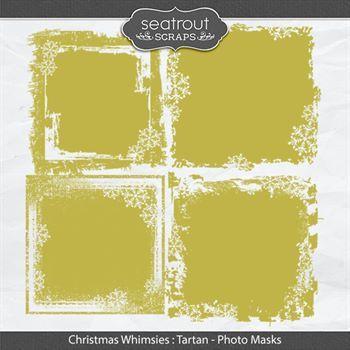 Christmas Whimsies - Tartan Photo Masks