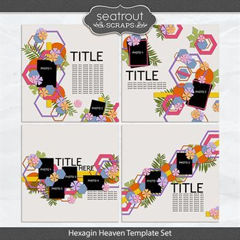 Hexagon Heaven Template Set