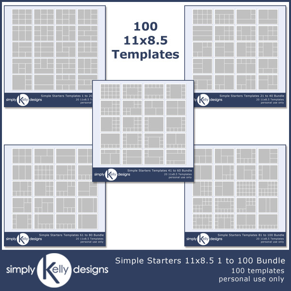 Simple Starters 11x8.5 Templates 1 To 100 Bundle