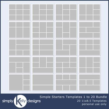 Simple Starters 11x8.5 Templates 1 To 20 Bundle