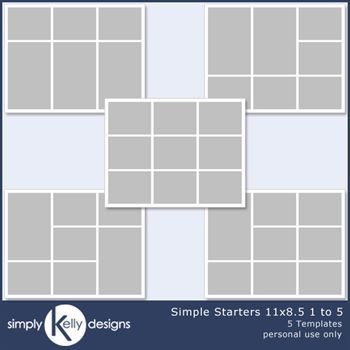 Simple Starters 11x8.5 Templates 1 To 5