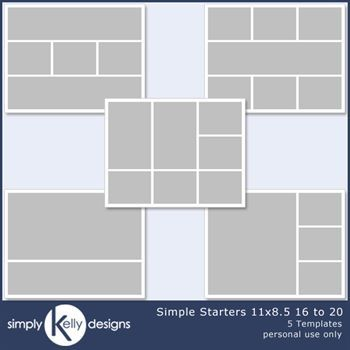 Simple Starters 11x8.5 Templates 16 To 20