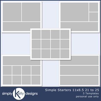 Simple Starters 11x8.5 Templates 21 To 25