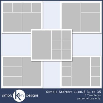 Simple Starters 11x8.5 Templates 31 To 35