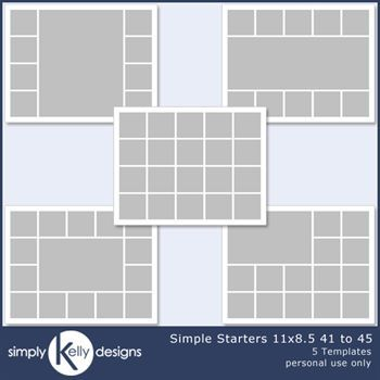Simple Starters 11x8.5 Templates 41 To 45