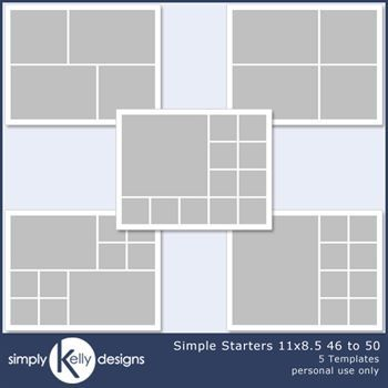 Simple Starters 11x8.5 Templates 46 To 50