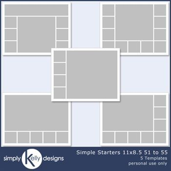 Simple Starters 11x8.5 Templates 51 To 55