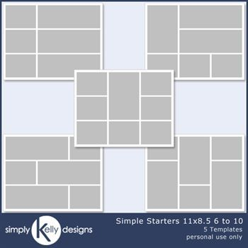Simple Starters 11x8.5 Templates 6 To 10