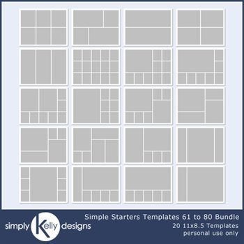 Simple Starters 11x8.5 Templates 61 To 80 Bundle
