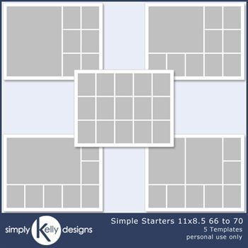 Simple Starters 11x8.5 Templates 66 To 70