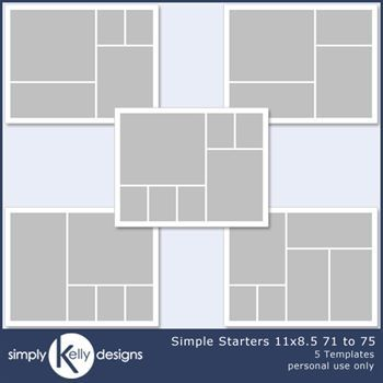Simple Starters 11x8.5 Templates 71 To 75