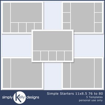Simple Starters 11x8.5 Templates 76 To 80