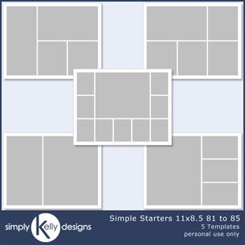 Simple Starters 11x8.5 Templates 81 To 85