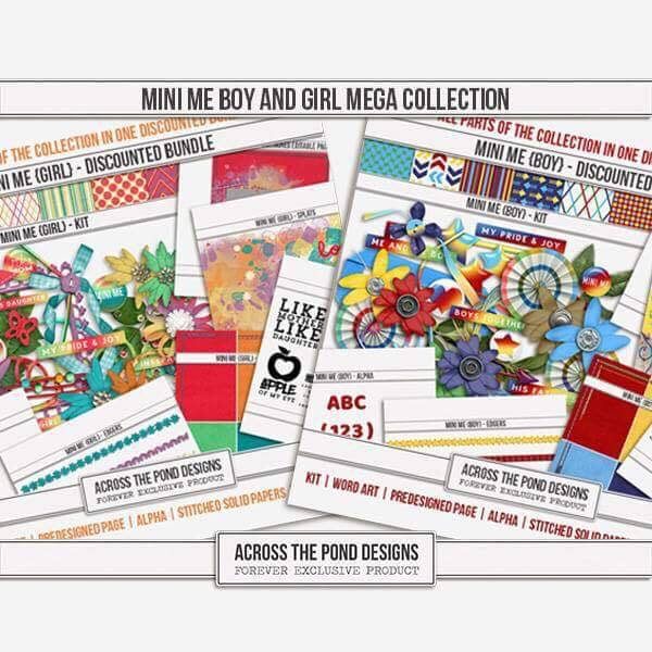 Mini Me Boy And Girl - Mega Collection Digital Art - Digital Scrapbooking Kits