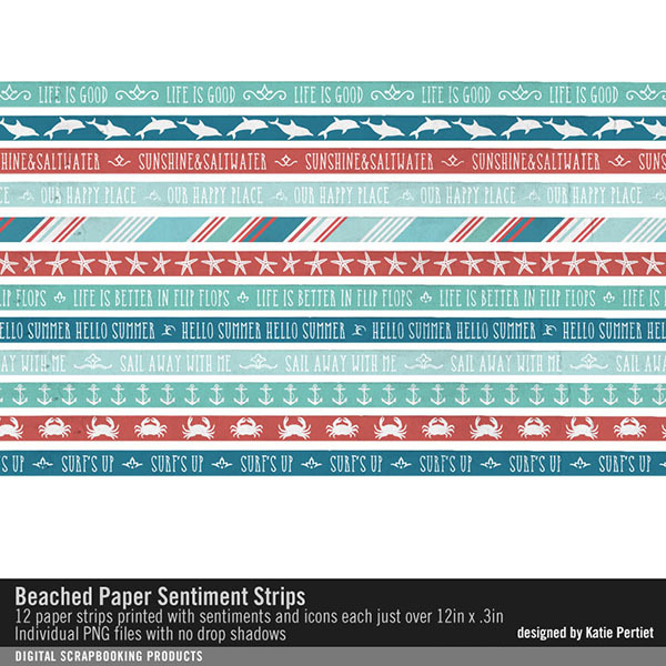 Beached Paper Sentiment Strips