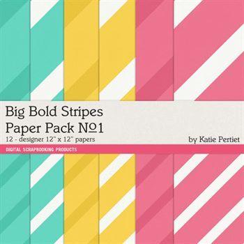 Big Bold Stripes Paper Pack No. 01