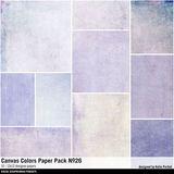 Canvas Colors Paper Pack No. 26