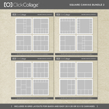 Square Canvas Bundle 2