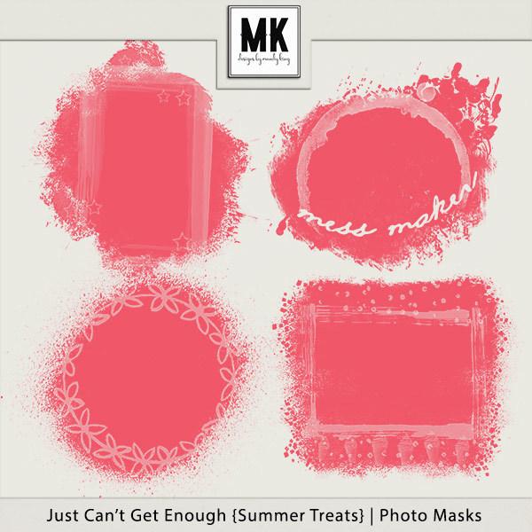 Just Can't Get Enough Summer Treats - Photo Masks