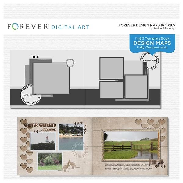 Forever Design Maps 16 11x8.5
