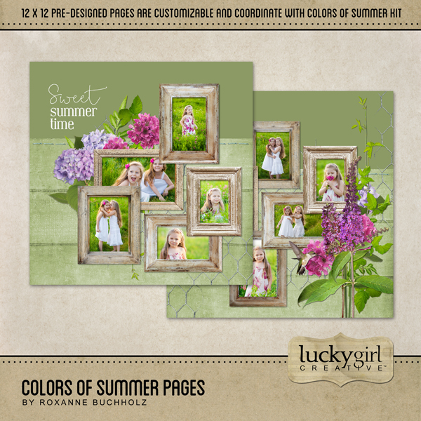 Colors Of Summer Pages Digital Art - Digital Scrapbooking Kits