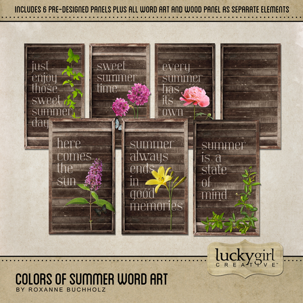 Colors Of Summer Word Art