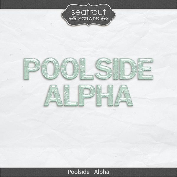 Poolside Alpha Digital Art - Digital Scrapbooking Kits