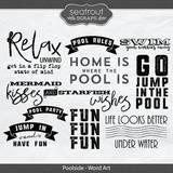 Poolside Word Art