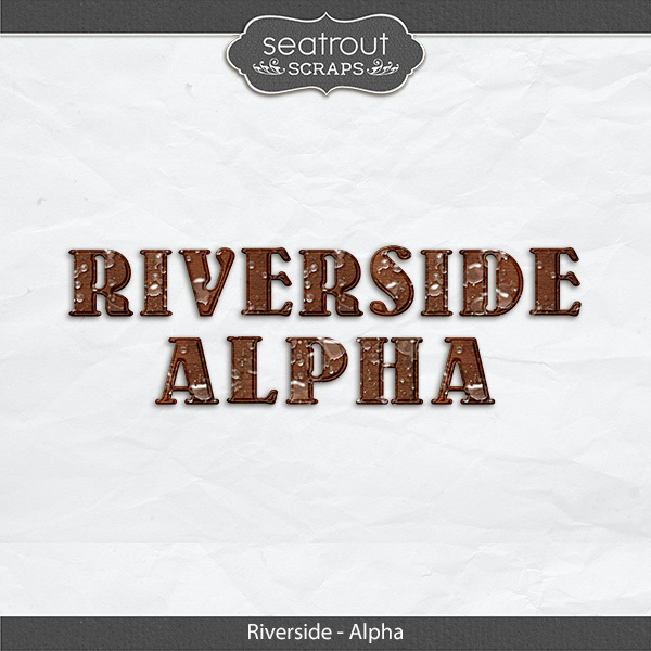 Riverside Waterdrop Alpha Digital Art - Digital Scrapbooking Kits