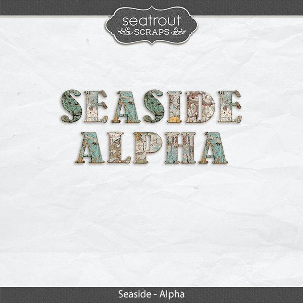 Seaside Alpha Digital Art - Digital Scrapbooking Kits