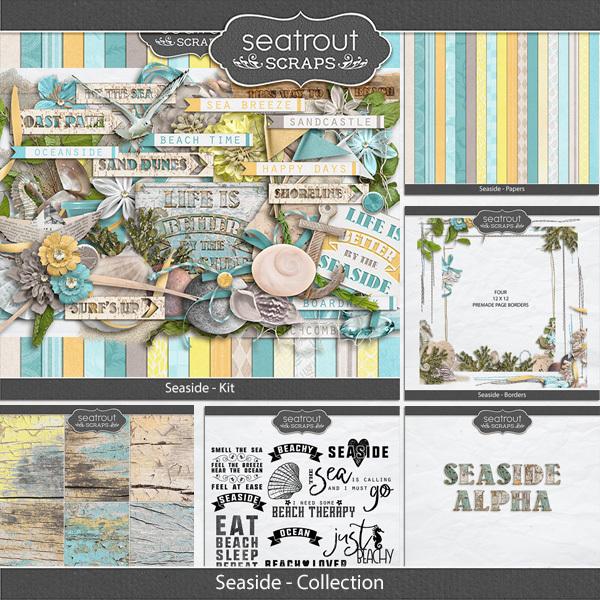 Seaside Discounted Bundle Digital Art - Digital Scrapbooking Kits