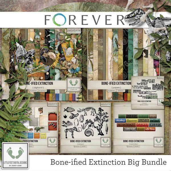 Bone-ified Extinction Big Bundle Digital Art - Digital Scrapbooking Kits