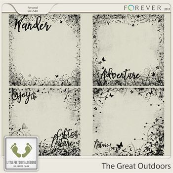 The Great Outdoors Overlays Digital Art - Digital Scrapbooking Kits