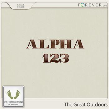 The Great Outdoors Wood Alpha Digital Art - Digital Scrapbooking Kits