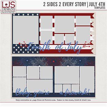 2 Sides 2 Every Story - July 4th Digital Art - Digital Scrapbooking Kits