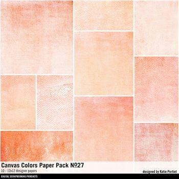 Canvas Colors Paper Pack No. 27 Digital Art - Digital Scrapbooking Kits