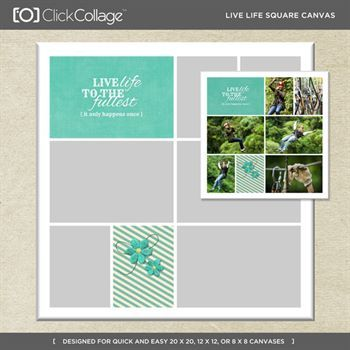 Live Life Square Canvas