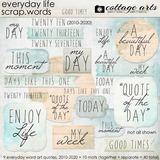 Everyday Life Scrap.words
