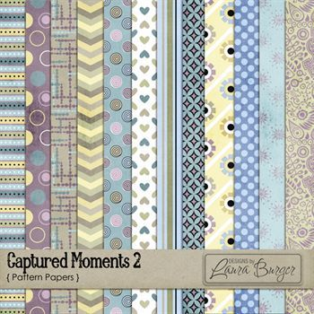 Captured Moments 2 Pattern Paper Pack