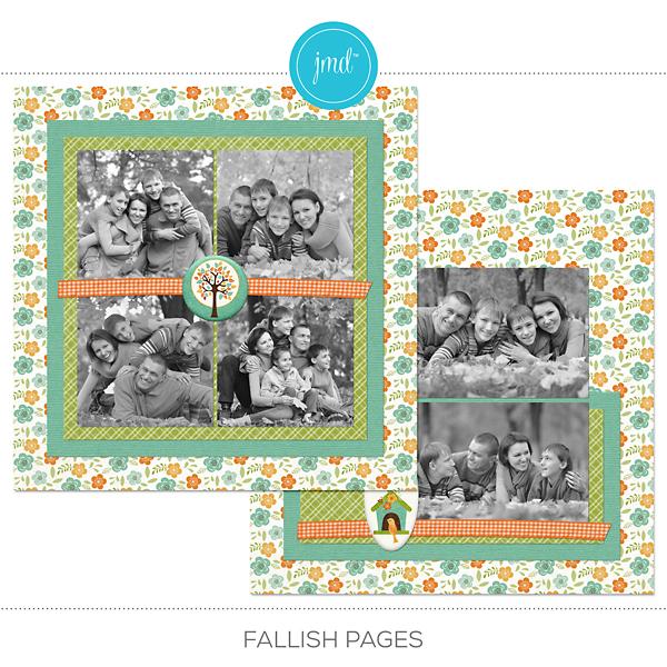 Fallish Pages Digital Art - Digital Scrapbooking Kits