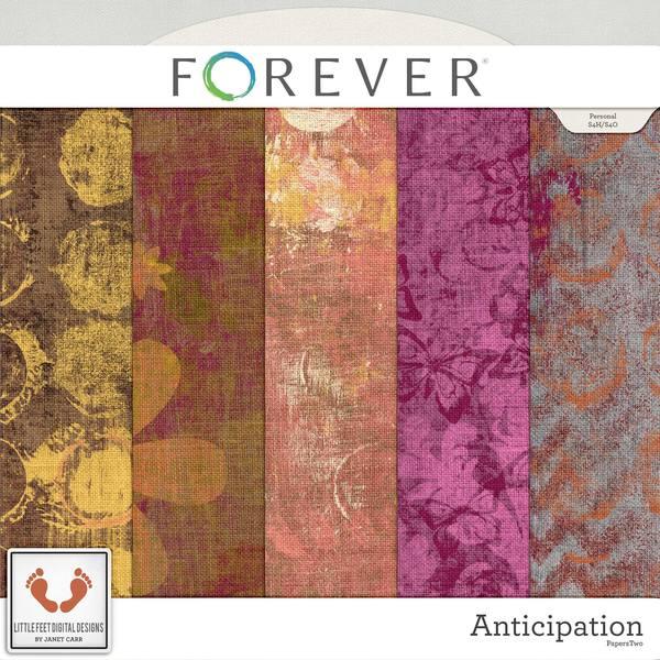 Anticipation Artistic Burlap Papers Digital Art - Digital Scrapbooking Kits