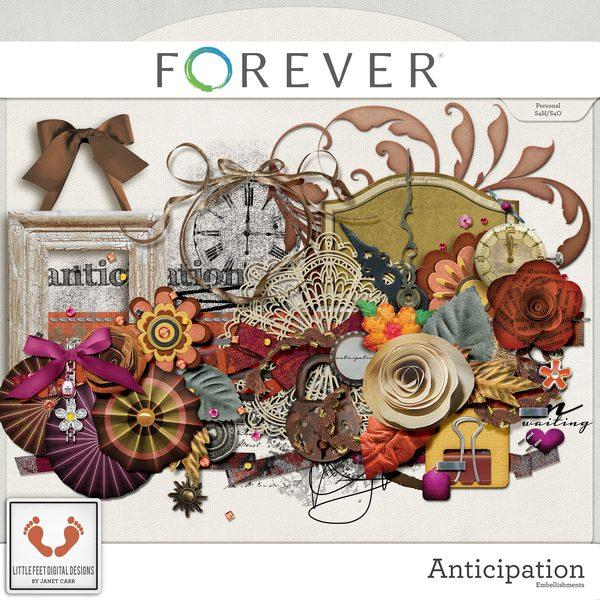 Anticipation Digital Kit Digital Art - Digital Scrapbooking Kits