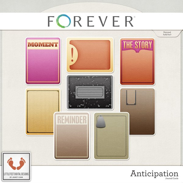 Anticipation Journal Cards Digital Art - Digital Scrapbooking Kits