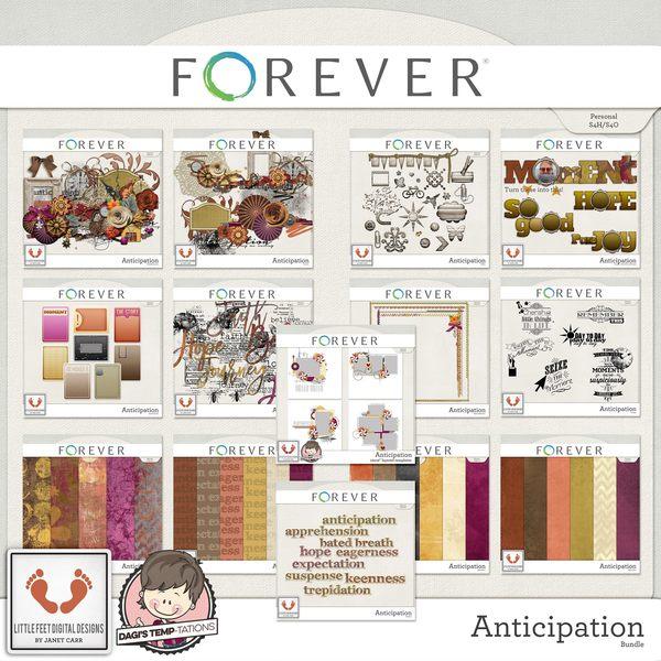 Anticipation Mega Bundle Digital Art - Digital Scrapbooking Kits