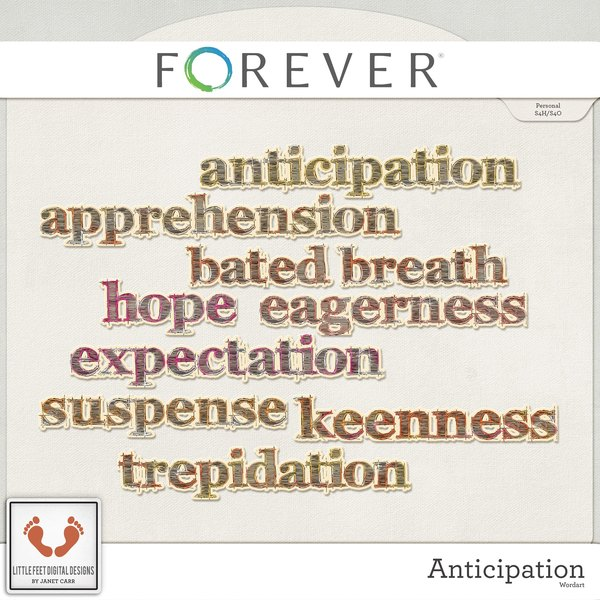 Anticipation Word Art
