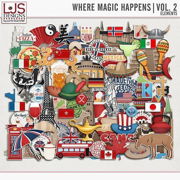 Where Magic Happens Vol. 2 - Elements Digital Art - Digital Scrapbooking Kits