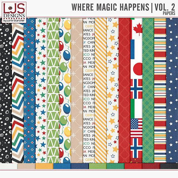 Where Magic Happens Vol. 2 - Papers Digital Art - Digital Scrapbooking Kits