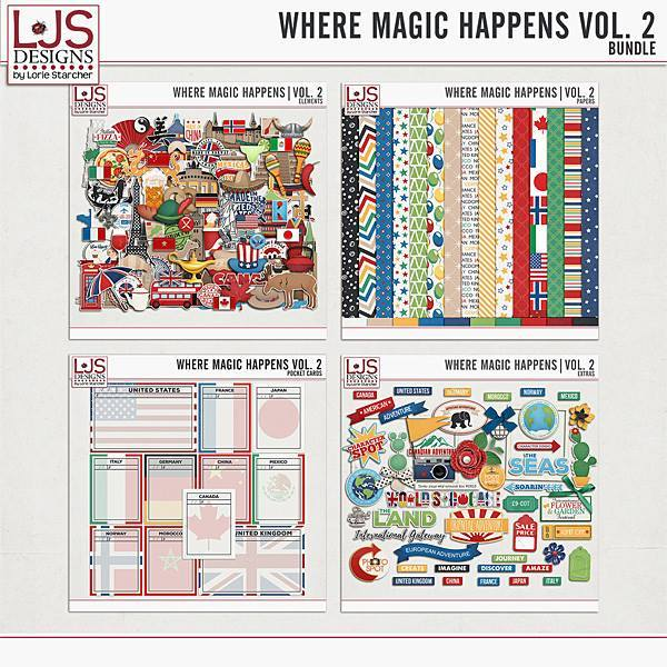 Where Magic Happens Vol. 2 - Bundle Digital Art - Digital Scrapbooking Kits