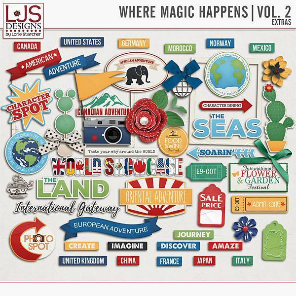 Where Magic Happens Vol. 2 - Extras Digital Art - Digital Scrapbooking Kits
